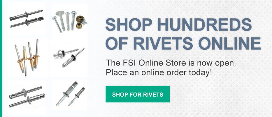 Rivet Tools, Guns, Nuts - Pop Rivets and Riveter - FSI Rivet